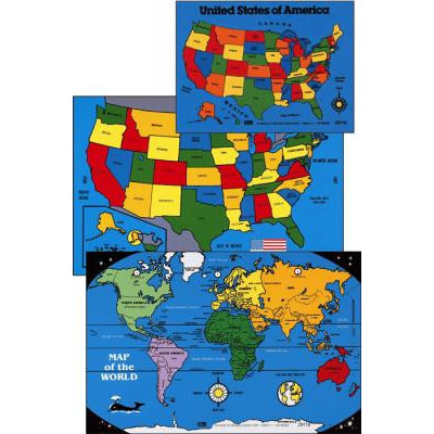 CYBER SPECIAL Large U.S. Map Puzzle ~ 12 inches x 18 inches ~ 41 Pieces
